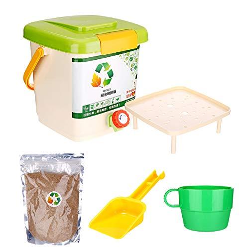 TuToy 10L Reciclado Composter Aireado Compost Bin Bokashi Cubo De Cocina Contenedores De Basura De Alimentos - #1