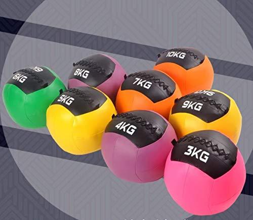 Aoakua メディシンボール ウォールボール 体幹 強化 トレーニング ソフトメディシンボール 3kg 4kg 5kg 6kg 7kg (7)