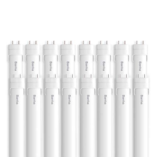 Barrina (16-Pack) T8 T10 T12 LED Light Tube 4ft 24W 6000K Super Brightness Daylight White, Dual-End Powered, T8 T10 T12 Fluorescent Light Bulbs Replacement, ETL Listed
