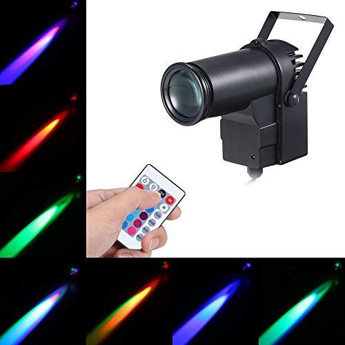 Led Pinspot,LED Strahl Scheinwerfer, 15W RGB LED Strahler Pinspot Bühnenlicht Lichteffekt mit Fernbedienung Controller Unterstützt 16 Farben,Dimmbar, für Disco KTV Bar Club Party Entertainment DJ