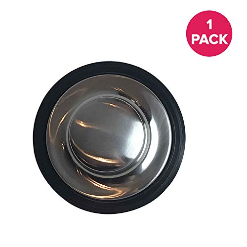 Think Crucial Replacement for InSinkErator Stainless Steel Sink Stopper With Rubber Gasket, Fits Garbage Disposals, Compatible With Part # STP-SS