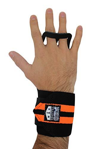 Luvas Crossfit Pull Up Couro Protetor Grip Crossfit (PRETO, P)