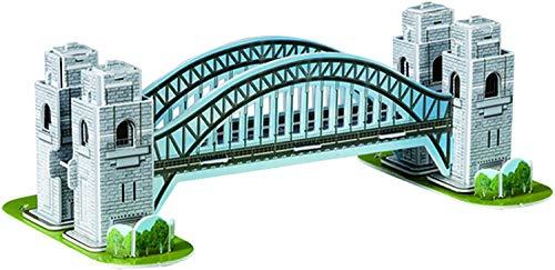 Quickdraw 3D London Tower Bridge Puzzle Famous British Landmark Model 33 Pieces