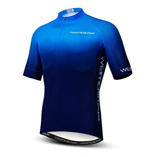 Maglia da Ciclismo da Uomo Manica Corta da Bici MTB Jersey Zip Abbigliamento da Strada di Montagna Magliette da Bicicletta Magliette da Ciclismo da Corsa XXL