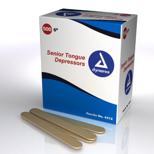 paquete de abatelenguas fabricante Senior Tongue Depressors