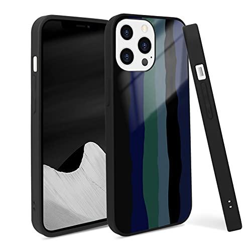 FYY Carcasa para iPhone 13 Pro Max de 6,7 pulgadas, 2021, Rainbow Liquid Silicone, fina, suave, resistente, amortiguación contra arañazos, para iPhone 13 Pro Max 5G 6,7 pulgadas, color negro