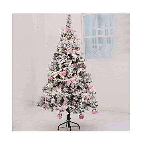 HJHJ árbol de Navidad Decorado Arboles de Navidad con Nieve Plegables Luces...