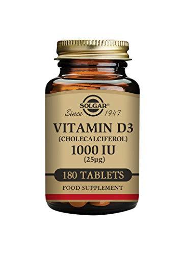 Solgar Vitamin D3 (Cholecalciferol) 1000 IU (25 µg) Tablets - Pack of...