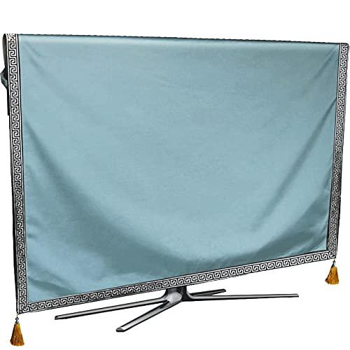 XKMY Cubierta protectora para TV de lujo, resistente al polvo, resistente a la intemperie, protege LCD LED de plasma de plasma, tela de tela, tapete de tela (color: azul, especificación: 49 pulgadas)