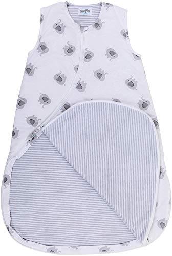 Purflo Baby-Schlafsack, Jersey, 6-18 Monate, 2,5 Tog, Elefant