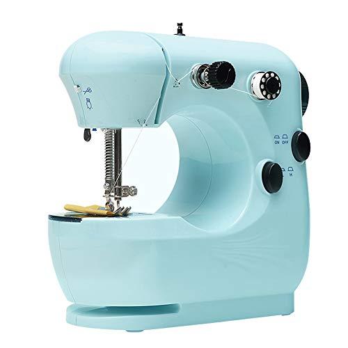 Mini Máquina De Coser, Máquina De Coser Eléctrica Portátil De Coser De Tela De Coser Mini Modelo De Máquina De Coser Azul