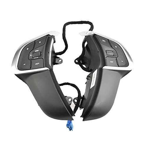 FangFang Interruptor De Control del Control del Volante del Automóvil Ajuste para Citroen C4 2013-2016 PSA 98084115ZD (Color : Black)
