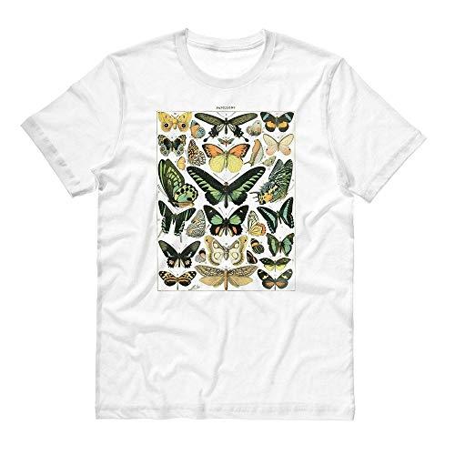 Papillons Chart Shirt Unisex Medium White