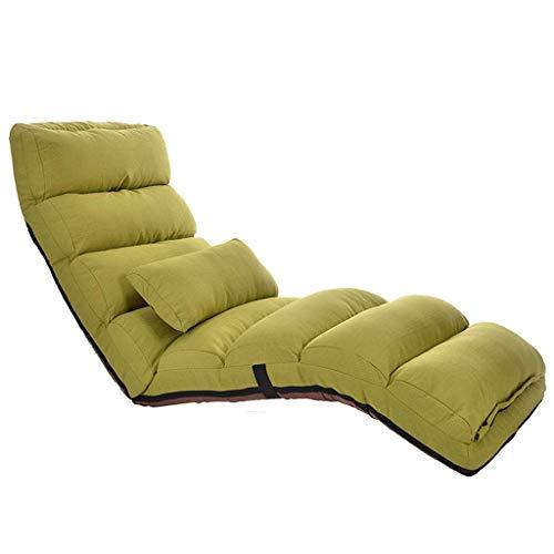 Haushaltsprodukte Lazy Schlafsofa Bodenstuhl mit Rückenlehne Easy Lounge Klappsitzkissen Verstellbar Gepolstert Klappsitz für Meditationslesung (Farbe: Blau)