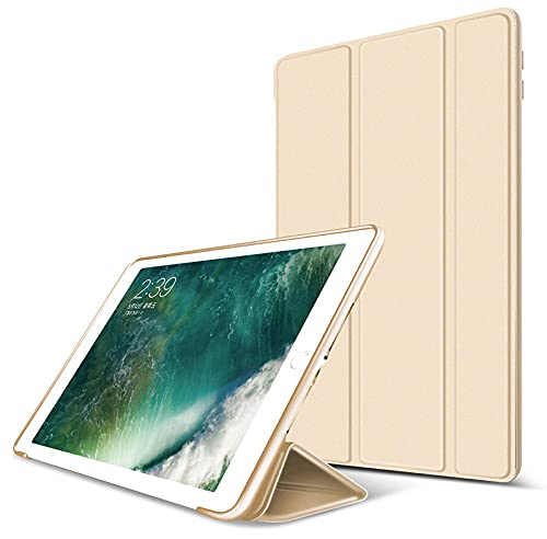 YYLKKB Caso para iPad Pro 11 12 9 2020 10.5 9.7 2017 CUBIERTE Smart DE Cuero DE PU para iPad Mini 5 Air 3 10.2 2019 Silicone Honeycomb Back Case-Oro_iPad Pro 11 2020