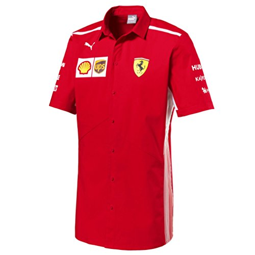 Ferrari Scuderia F1 Racing SF Team Puma Chemise Rouge Officiel 2018