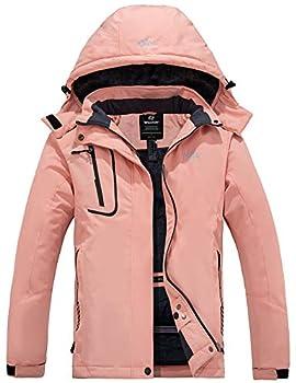Wantdo Women s Mountain Snow Jacket Waterproof Winter Insulated Coat Pink M