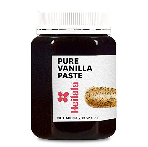 HEILALA -Pâte de gousse de vanille pure-Variété de bourbon de Madagascar Gourmet, gousses de vanille sélectionnées à la main et dorigine éthique pour la pâtisserie et les desserts, sans gluten-400ml