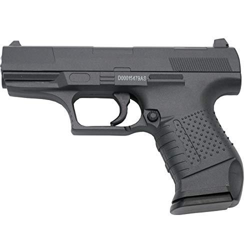 Galaxy Pistola G19 Negra - Pistola Muelle Calibre 6 mm Aleación Metal y Zinc - Energía 0.21 Julios - Velocidad de Disparo 57.1 m/s - 186 FPS. Ref:G19N