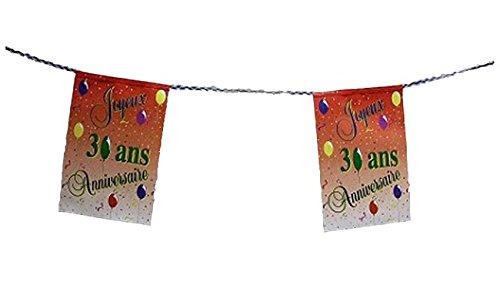 Guirlande Joyeux Anniversaire pour vos 30 ans 8 Pavillons decoration anniversaire jubilé