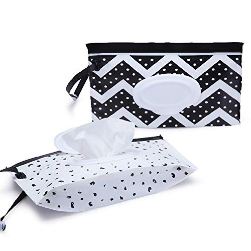 Wipe Travel Case Baby Wipes Bag on The Go - Wet Wipe Holder...
