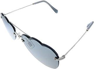 ميو ميو MU 56U BC17 نظارة شمسية معدنية بيضوية مع عدسات رمادية
