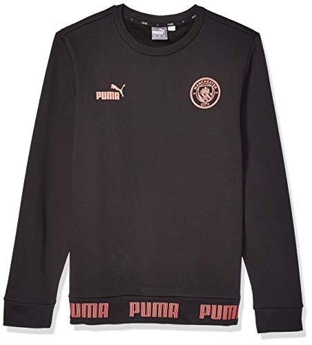 PUMA Mens International Soccer FtblCulture Sweater Manchester City, PUMA Black/Georgia Peach, X-Large