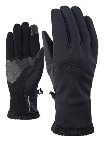 Ziener Damen INOLA GTX INF Touch Lady Glove Multisport Funktions-/ Outdoor-Handschuhe | Winddicht, Atmungsaktiv, Black, 7,5