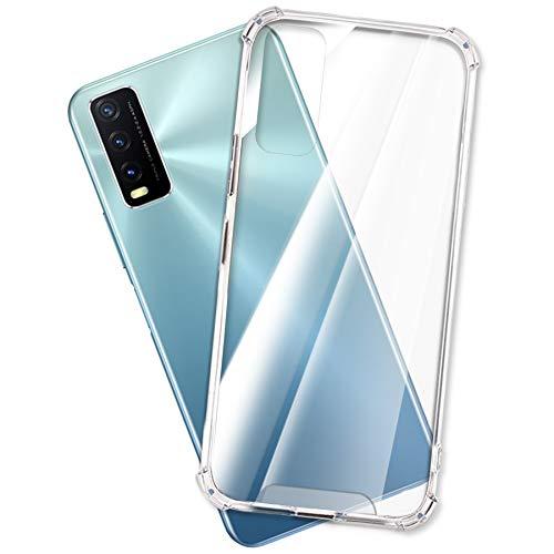 mtb more energy® Hülle Crystal Armor für vivo Y20s, vivo Y11s (6.51'') - Hard PC Back und Soft Silikon Bumper - Anti Shock Schutzhülle Hülle Cover Tasche