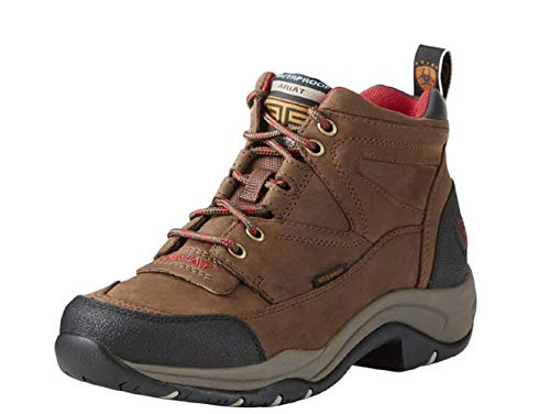 Ariat Women's Terrain Waterproof Hiking Boot, Distressed Brown, 8.5