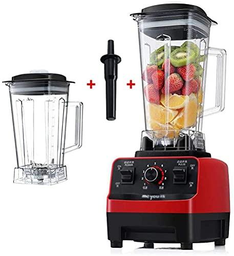 Licuadora batidora multifuncional, exprimidor frutas verduras, procesador alimentos, 1350 W, licuadora batidos velocidad 35.000 rpm alta velocidad, jarra 2 litros, hoja afilada para hielo/nueces/sopa