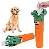 Juguete de Perro Resistente a la mordedura de la Zanahoria, Cubierta Gruesa de la Tela de Oxford para la Botella de plástico Juguete de Mascotas con huidos de la Mascota con Sniffs Diseño
