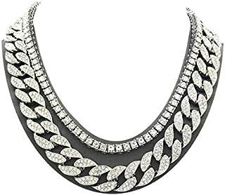 Shiny Jewelers USA Mens Iced Out Hip Hop Silver Tone CZ...