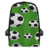 Rucksack für Jungen und Mädchen Ballspiel Fußball Sport Fußball Muster Niedlich Rucksack Tasche Outdoor Casual Daypack