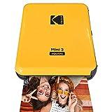 Kodak All-New Mini 3 Square Instagram Size Bluetooth Portable Photo Printer with 4PASS Technology - Yellow