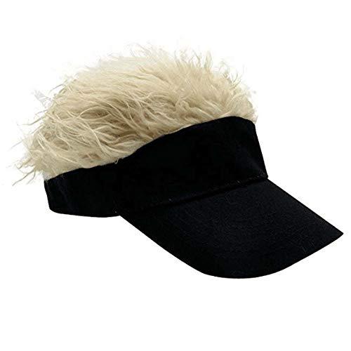 YEKEYI Novelty Team Wear Riding Hats Unisex Cycling Bike Bicycle Cap Fake Hair Wig Visor