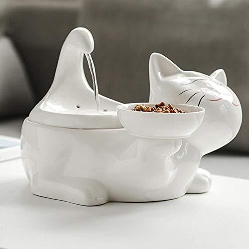 Katzen Trinkbrunnen Keramik Wasserfontänen Für Katzen Und Hunde Pet Wasserspender Schüssel Mit Ersatzfiltern Und Schaum Für Katze Und Hunde 360 Keramik Pet Brunnen