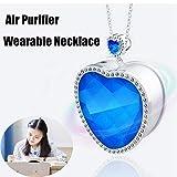SDERT Nuevo Collar de purificador de Aire portátil Personal para el hogar portátil Mini pequeño Filtro de purificador de Aire Regalos para Mujeres