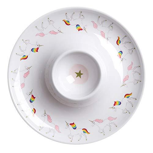 Sophie Allport Huevera de melamina, diseño de unicornio