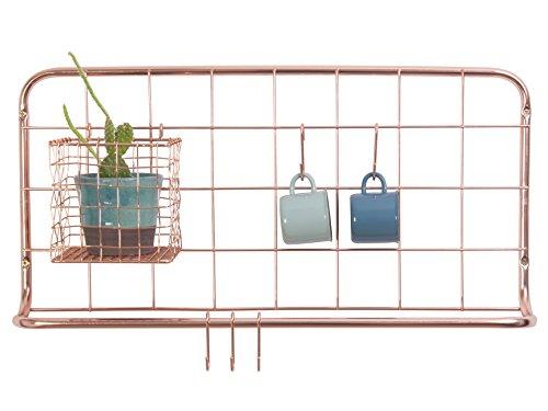 PT, Open Grid Küchenregal, Metall, Kupfer, 30 cm