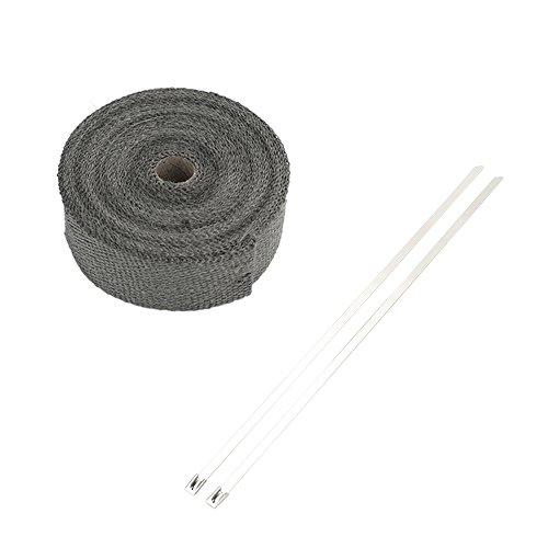 5m Hitzeschutzband 50mm schwarz SCHLAUCHLAND*** Auspuffband Thermoband Kr/ümmerband Heat Wrap Basaltfaser Isolierband
