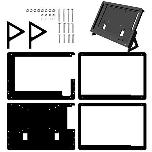 Longruner 7 Inch Display Monitor Touch Screen Case for Raspberry Pi 3 2 Model B and RPi 1 B + A BB Schwarz PC Verschiedene Systeme LSC7B-1