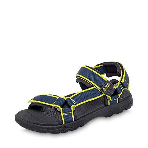 Jack Wolfskin 4036811-1010 Ocean View Jungen Sandale aus Mesh weiches Fußbett, Groesse 37, dunkelblau
