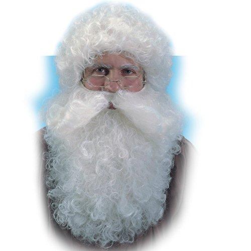 Perruque + Barbe de Pere Noel Blanc - Deguisement Adulte realiste - 645