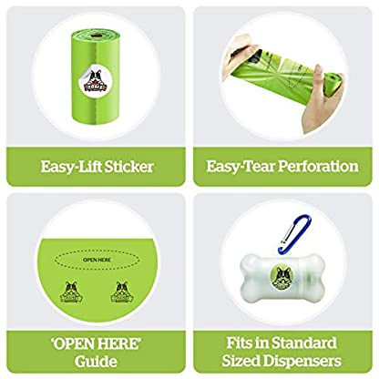 Pogi's Compostable Poop Bags - 9 Rolls (135 Bags) - Leak-Proof, Extra-Large, Plant-based, ASTM D6400 Certified Home Compostable & Biodegradable Waste Bags for Dogs 3