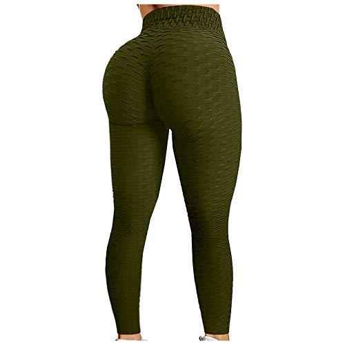 Damen 3/4 Sporthose Yoga Fitness Leggings Hohe Taille Jogginghose Trainingshose mit Bauchkontrolle Damen Slim Fit Hohe Taille Sportshort Lange Leggings mit Bauchkontrolle