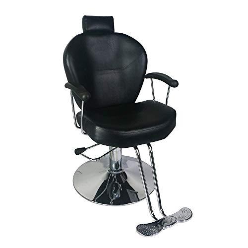 Diophros Barber Chair, Heavy Duty Beauty Salon Hydraulic Recliner Chair Hydraulic Pump Profession Shampoo Chair Beauty Salon