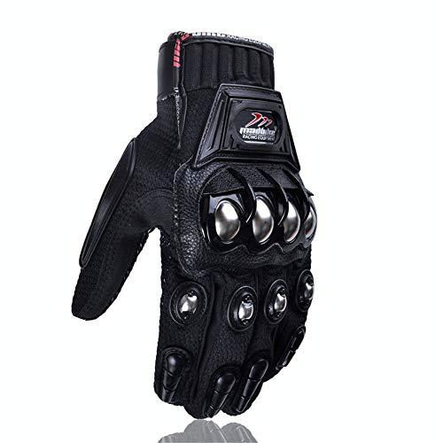 Guantes de Motocross aleación Protectora Ciclismo Racing Guantes de protección de Bicicleta eléctrica XXL Negro d