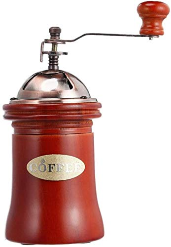 Manuel Houten Koffiemolen Hand Grinder Machine Retro Style Design Grain De Café Eten Pepermolennen Maker Vintage Kitchen Tools Ontwerp Portable Mini Camping Pl Air