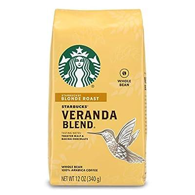 Starbucks Veranda Blend Light Blonde Roast Whole Bean Coffee, 12-Ounce Bag